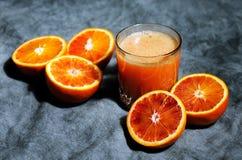 Juice of bloody oranges Royalty Free Stock Photo