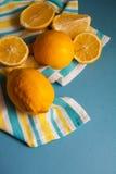 Juice bottle and lemons Royalty Free Stock Photography