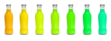 Juice bottles Royalty Free Stock Image