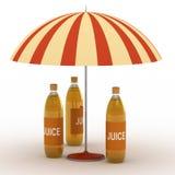 Juice bottles Royalty Free Stock Image