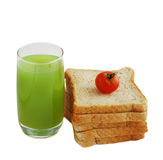 Juice and bread Royalty Free Stock Photo