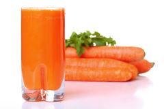 Juice and carrot Royalty Free Stock Photography