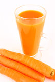 Juice carrot Stock Image