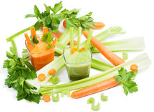 Juice of carrots and celery Stock Images