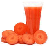 Juice of carrots Royalty Free Stock Images