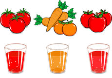 Juice cartoon Royalty Free Stock Images