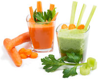 Juice of  celery and carrot Royalty Free Stock Photography