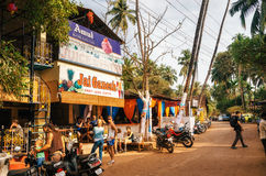 Juice Centre in Chapora. One of the most famous places of Goa. Stock Photo