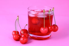 Juice cherry Royalty Free Stock Images