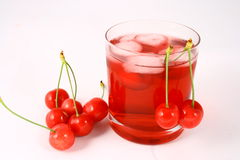 Juice cherry Stock Photos