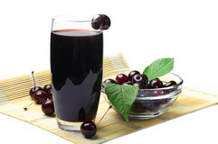 Juice and cherry berries Stock Photo