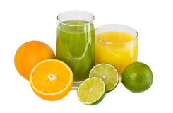 Juice and citrus Royalty Free Stock Photos