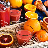 The juice from citrus fruits Stock Photos