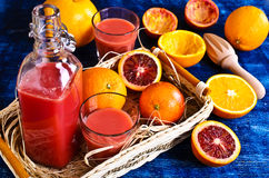The juice from citrus fruits Stock Images