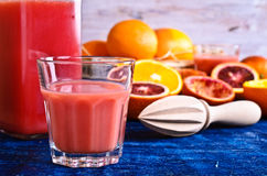 The juice from citrus fruits Royalty Free Stock Photos