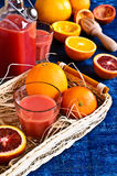 The juice from citrus fruits Royalty Free Stock Photography