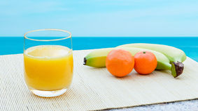 Juice by the sea Royalty Free Stock Photo