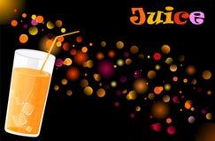Juice cocktail on defocused lights background. Vector juice cocktail on defocused illuminated background vector illustration