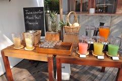 Juice counter stock photos