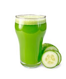 Juice cucumber in glass with a cucumber Stock Photo