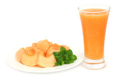 Juice of cucumis melo or muskmelon Stock Photography