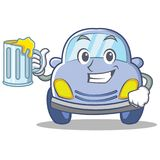 With juice cute car character cartoon Royalty Free Stock Images
