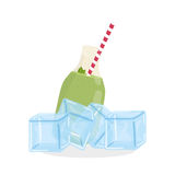 Juice design. glass icon. drink concept, vector illustration Stock Photography