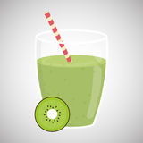 Juice design. glass icon. drink concept, vector illustration Stock Image