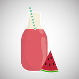 Juice design. glass icon. drink concept, vector illustration Stock Images