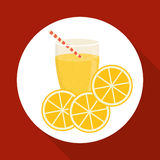 Juice design. glass icon. drink concept, vector illustration Royalty Free Stock Images