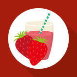 Juice design. glass icon. drink concept, vector illustration Royalty Free Stock Photography
