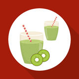 Juice design. glass icon. drink concept, vector illustration Royalty Free Stock Photos