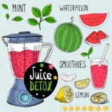 Juice detox set. Stock Image