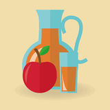 Juice drink and apple design Royalty Free Stock Photography