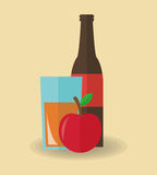 Juice drink and apple design Stock Photo