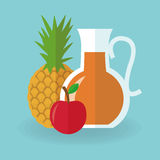 Juice drink pineapple and apple design Royalty Free Stock Photos