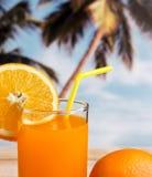 Juice Drink Shows Sweet Thirsty alaranjado e refresca fotografia de stock royalty free