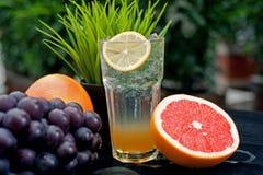 Juice drinks, desserts Royalty Free Stock Photos
