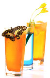 Juice drinks glasses Stock Photo
