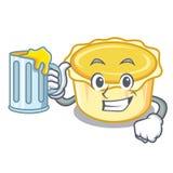 With juice egg tart mascot cartoon. Vector illustration Royalty Free Stock Photos