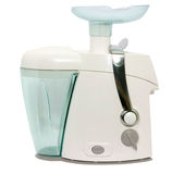 Juice extractor. Modern juice extractor on a white background Royalty Free Stock Images