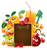 Juice and fresh Royalty Free Stock Photos
