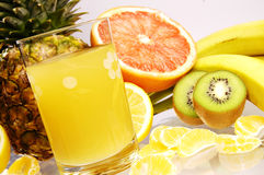 Juice from fresh friuts Royalty Free Stock Photos