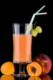 Juice and fresh fruits - organic, health drinks se Stock Image