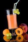 Juice and fresh fruits - organic, health drinks se Royalty Free Stock Photo