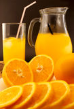 Juice of fresh oranges close up Royalty Free Stock Photo