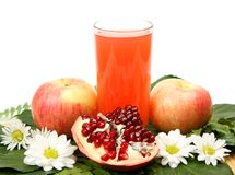 Juice and fruit Royalty Free Stock Image
