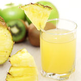 Juice and fruit Stock Photography