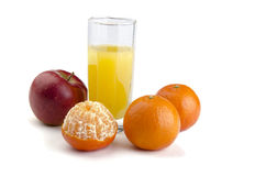 Juice with fruit Stock Photos