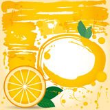 Juice fruit drops liquid orange element design. Grunge. Spray paint Royalty Free Stock Photography